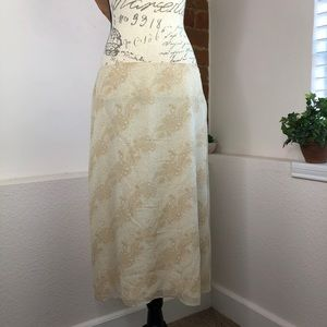 Silk skirt A-line Banana Republic Size 12